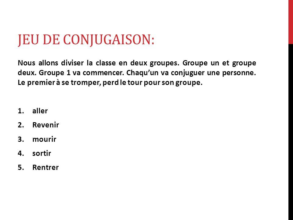Jeu de Conjugaison: