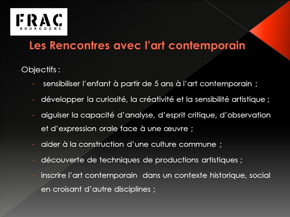 Les Rencontres avec l'art contemporain