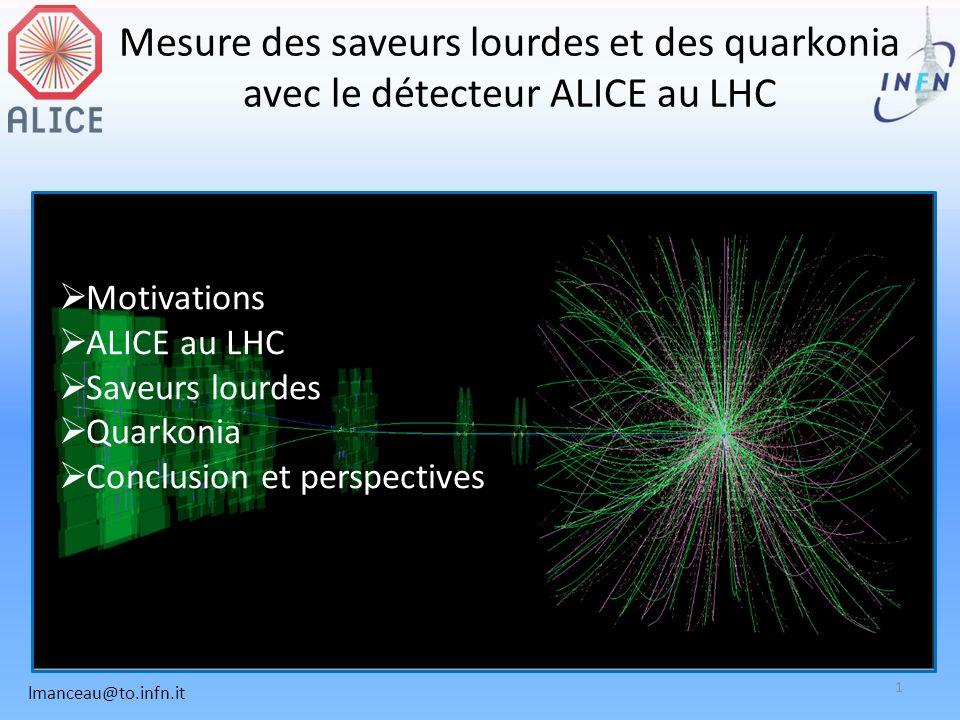 Mesure des saveurs lourdes et des quarkonia avec le détecteur ALICE au LHC