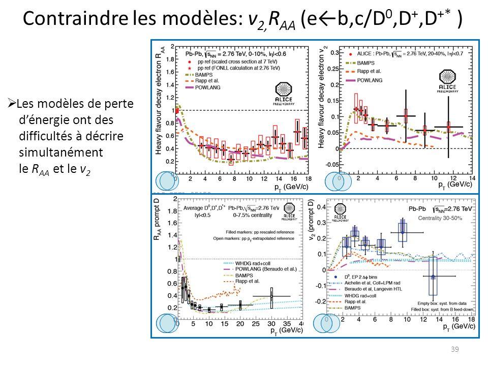 Contraindre les modèles: v2,RAA (e←b,c/D0,D+,D+* )