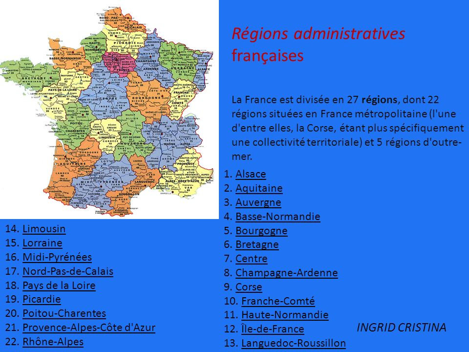Régions administratives françaises