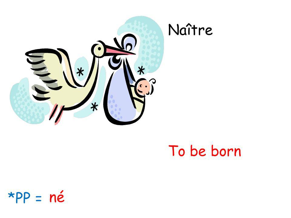 Naître To be born *PP = né