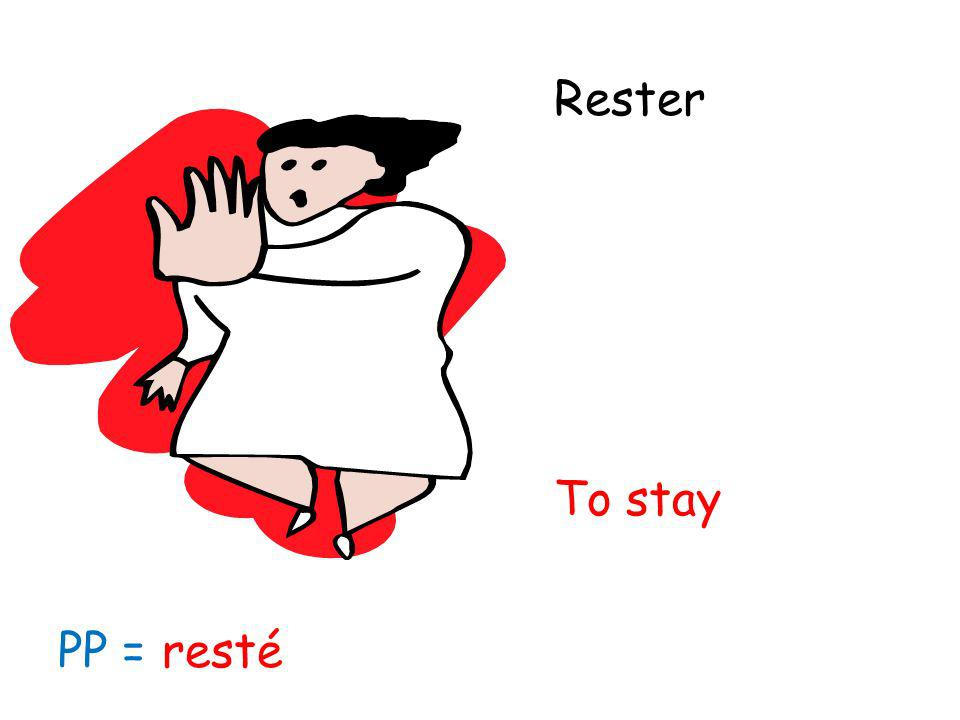 Rester To stay PP = resté