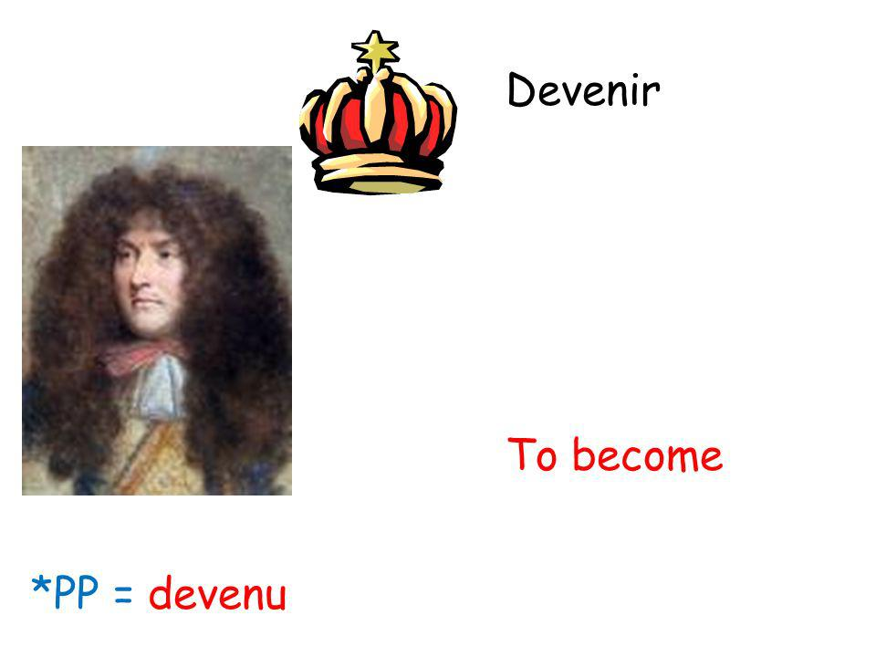 Devenir To become *PP = devenu
