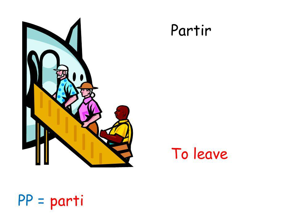 Partir To leave PP = parti