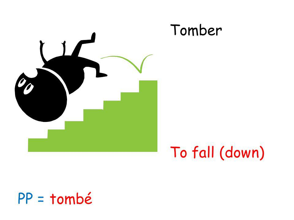Tomber To fall (down) PP = tombé