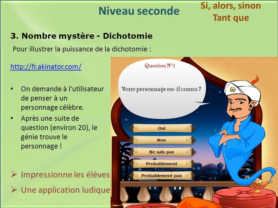 3. Nombre mystère - Dichotomie
