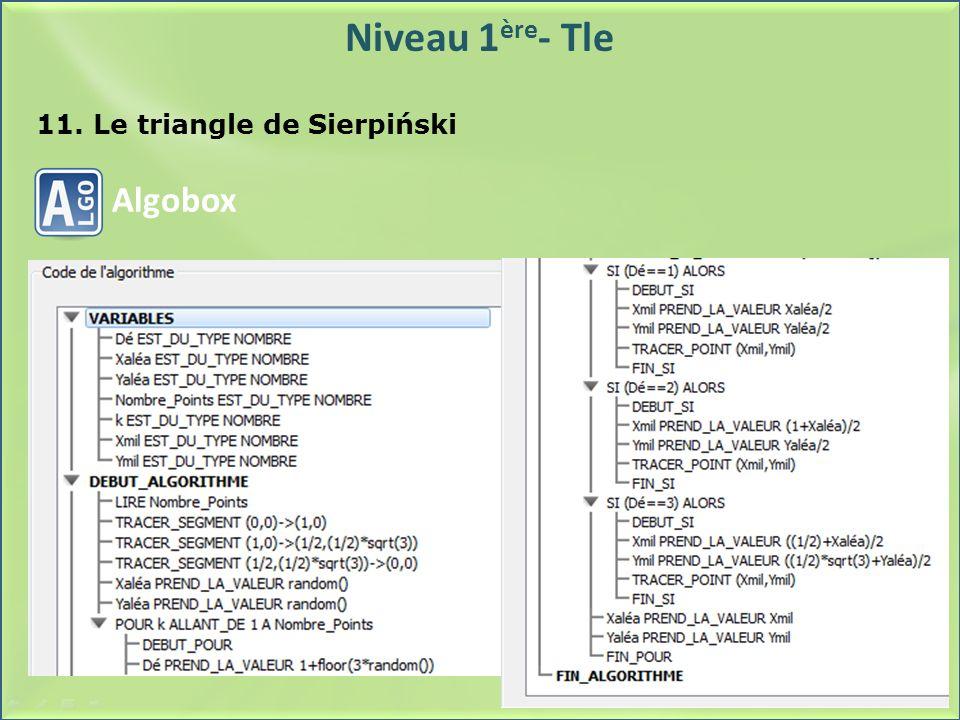 11. Le triangle de Sierpiński
