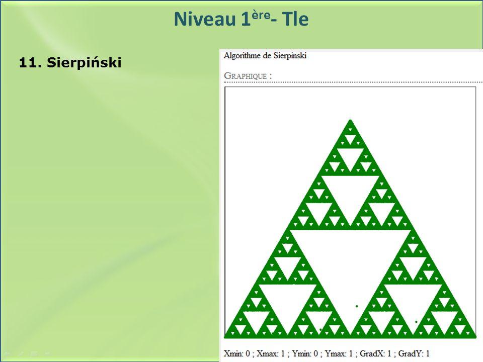 Niveau 1ère- Tle 11. Sierpiński
