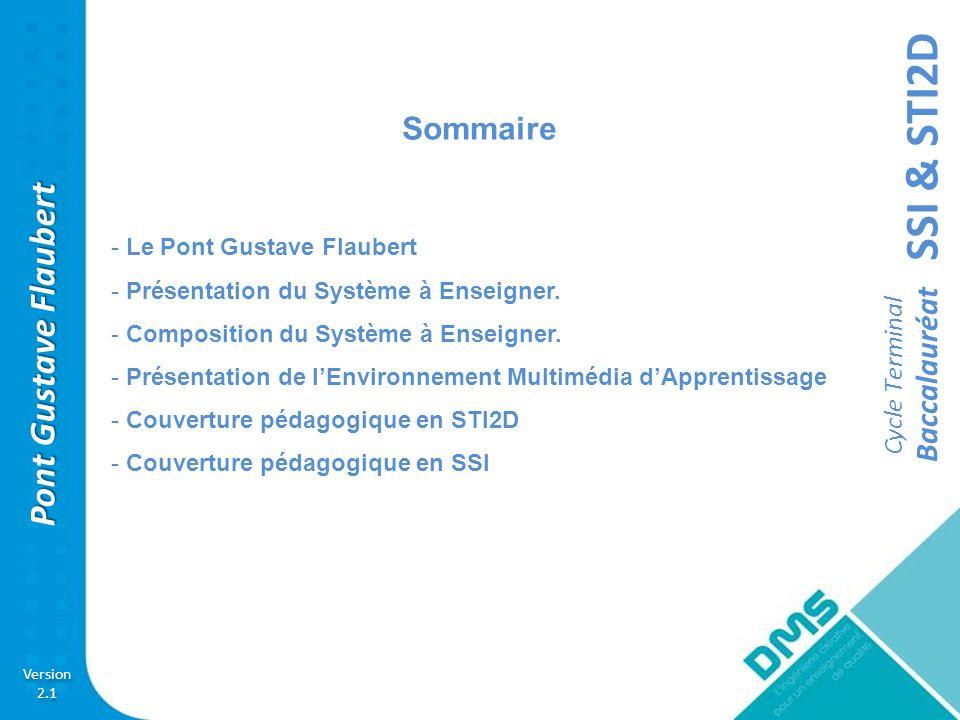 Sommaire Le Pont Gustave Flaubert Présentation du Système à Enseigner.