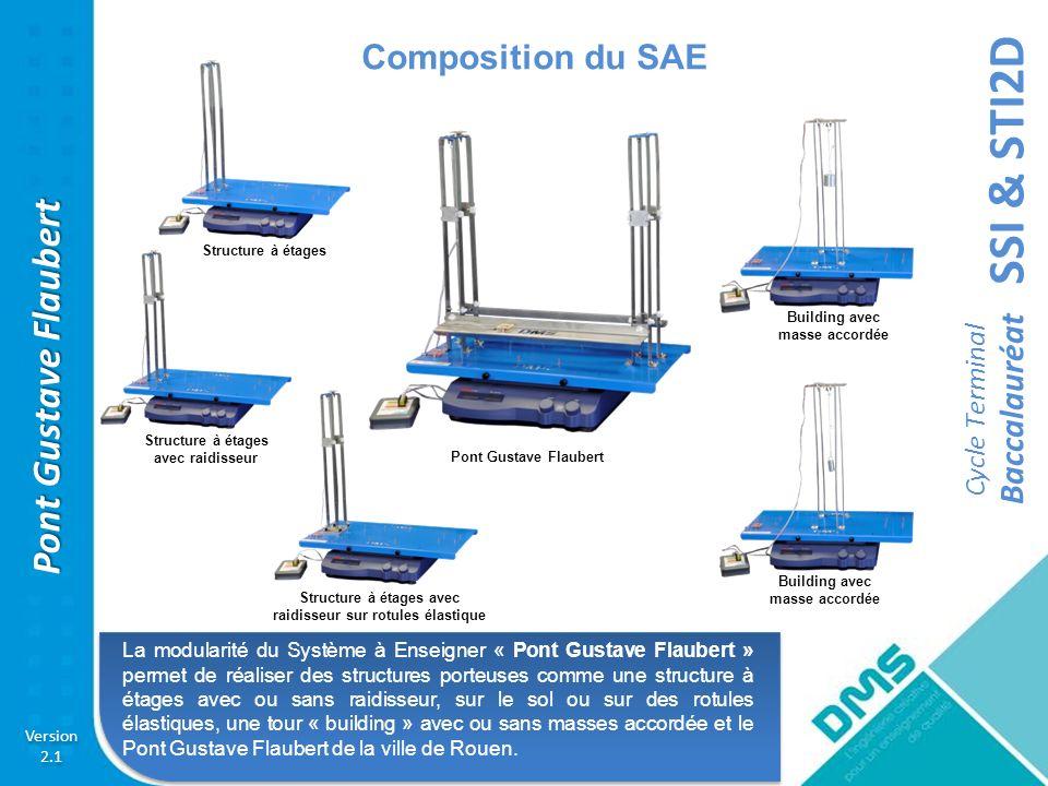 Composition du SAE Structure à étages. Building avec. masse accordée. Structure à étages avec raidisseur.