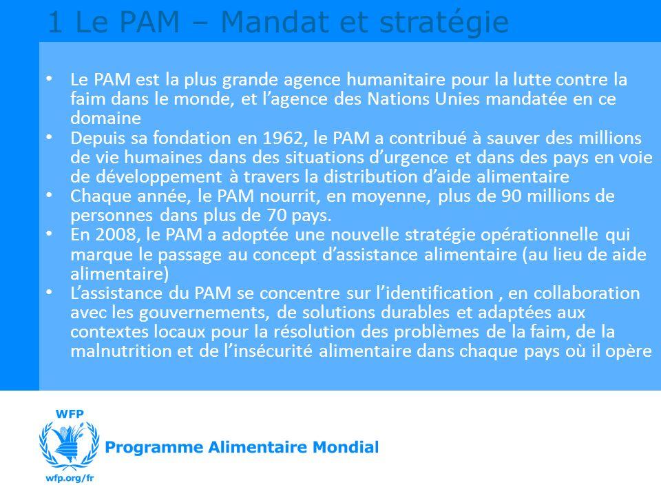 1 Le PAM – Mandat et stratégie