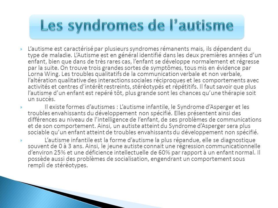 Les syndromes de l'autisme