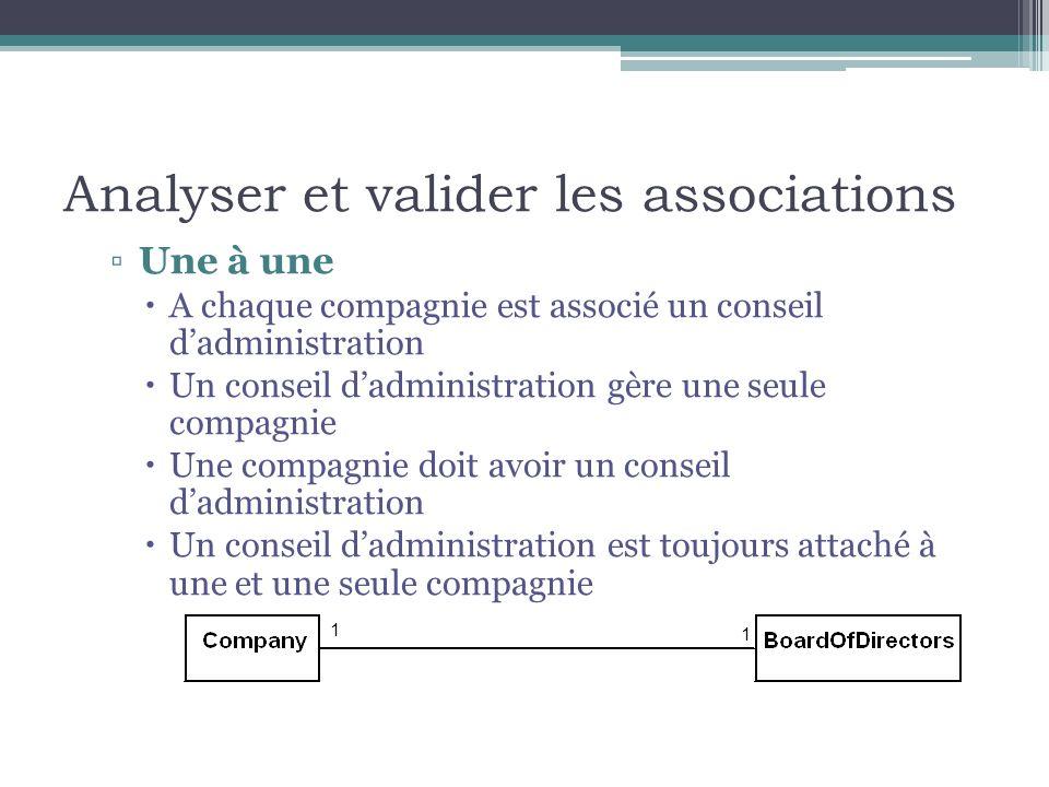 Analyser et valider les associations