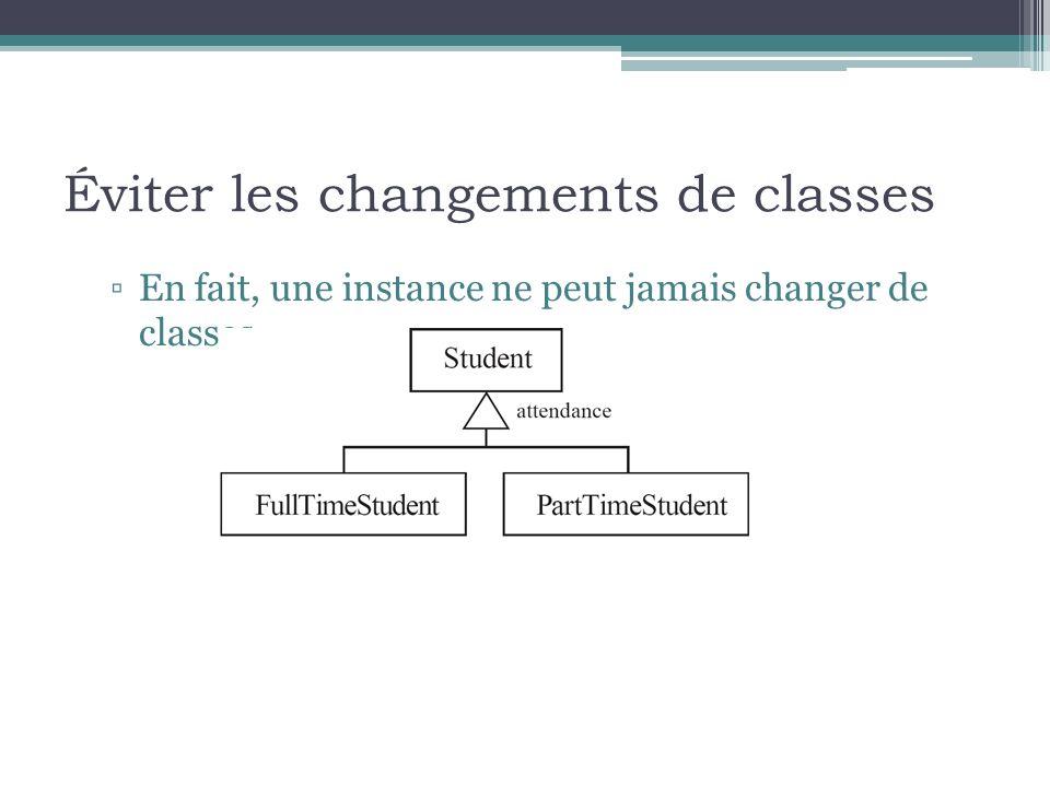 Éviter les changements de classes