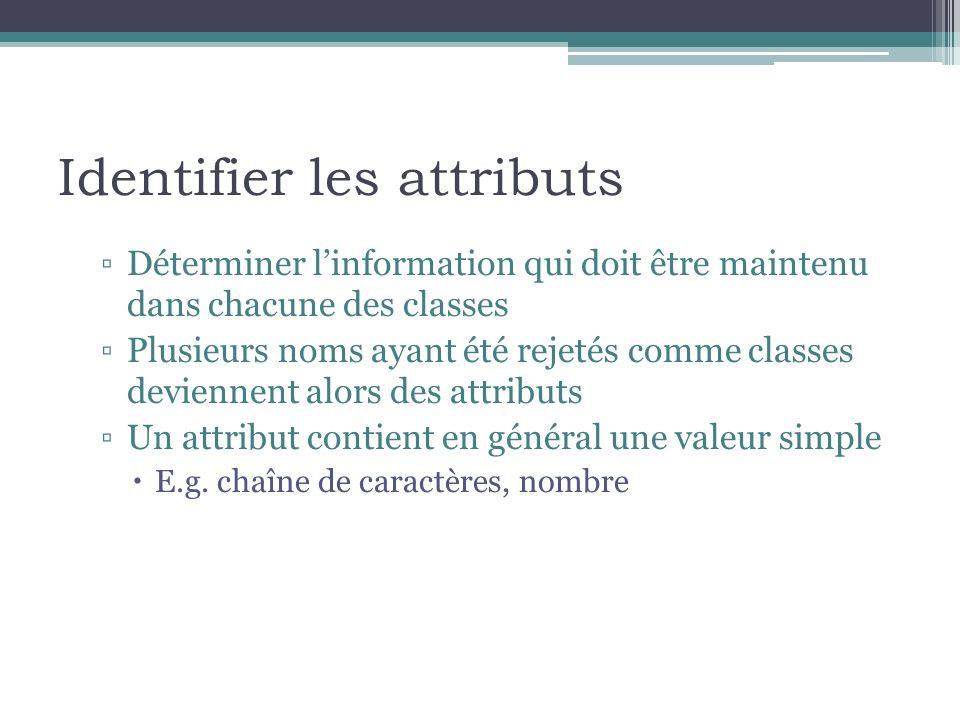 Identifier les attributs