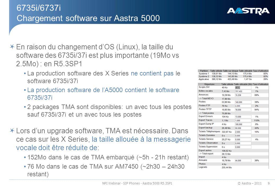 6735i/6737i Chargement software sur Aastra 5000
