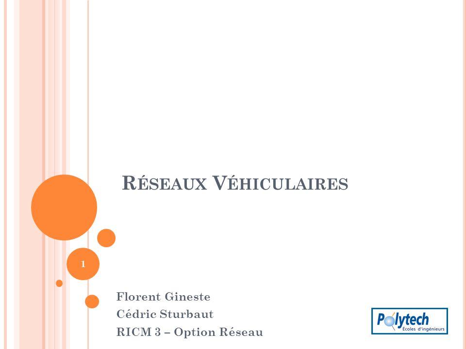 Florent Gineste Cédric Sturbaut RICM 3 – Option Réseau
