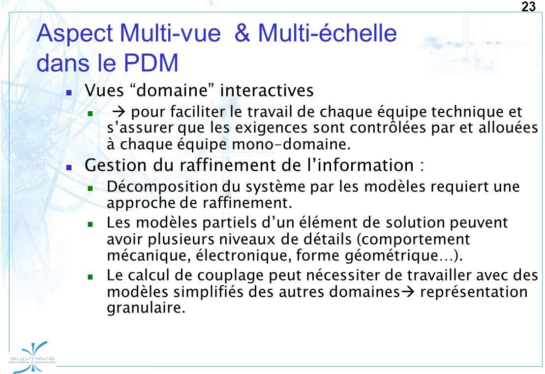 Aspect Multi-vue & Multi-échelle dans le PDM