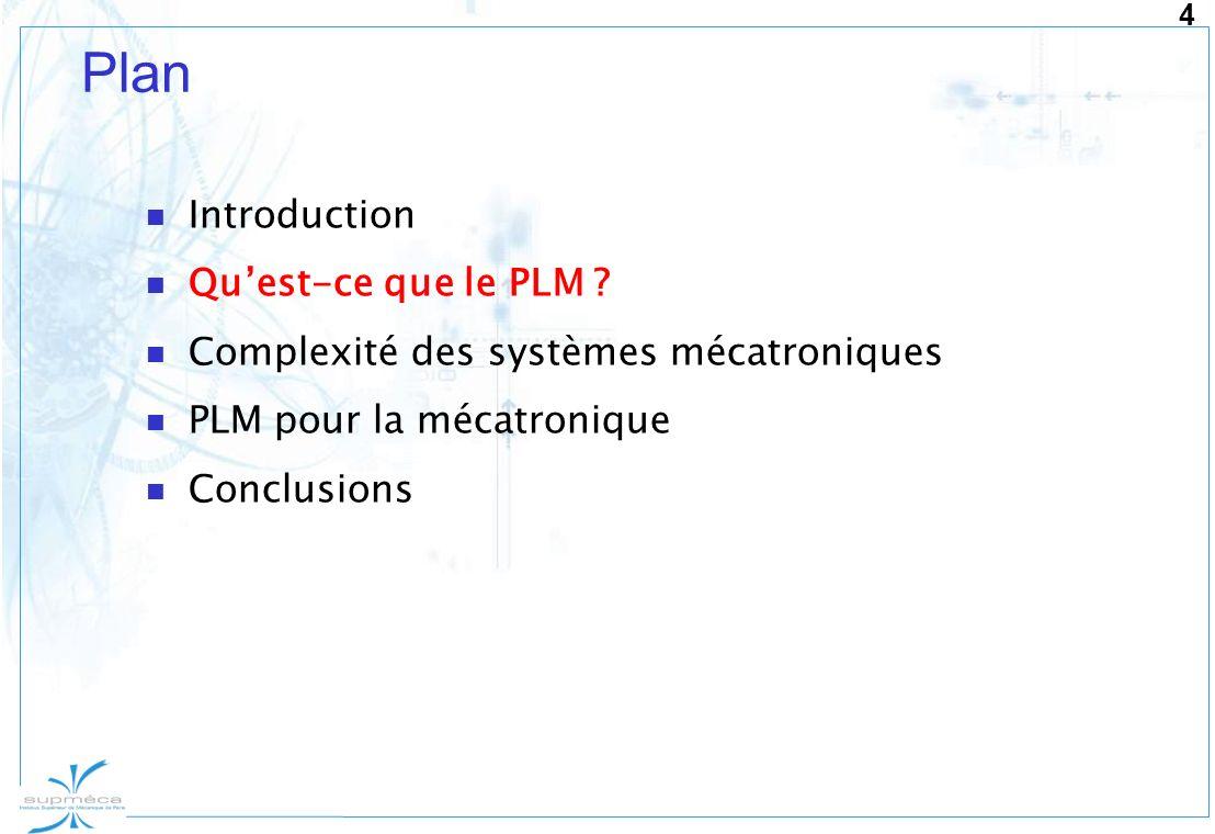 Plan Introduction Qu'est-ce que le PLM