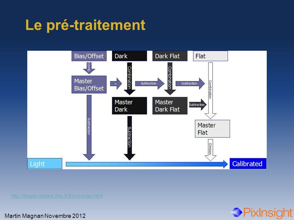 Le pré-traitement Martin Magnan Novembre 2012