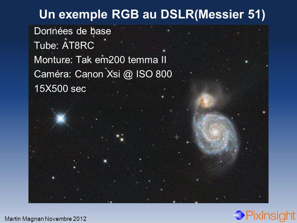 Un exemple RGB au DSLR(Messier 51)