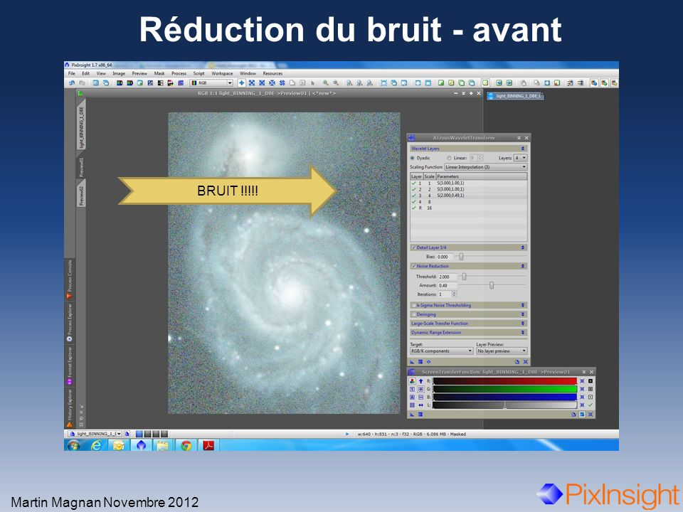 Réduction du bruit - avant