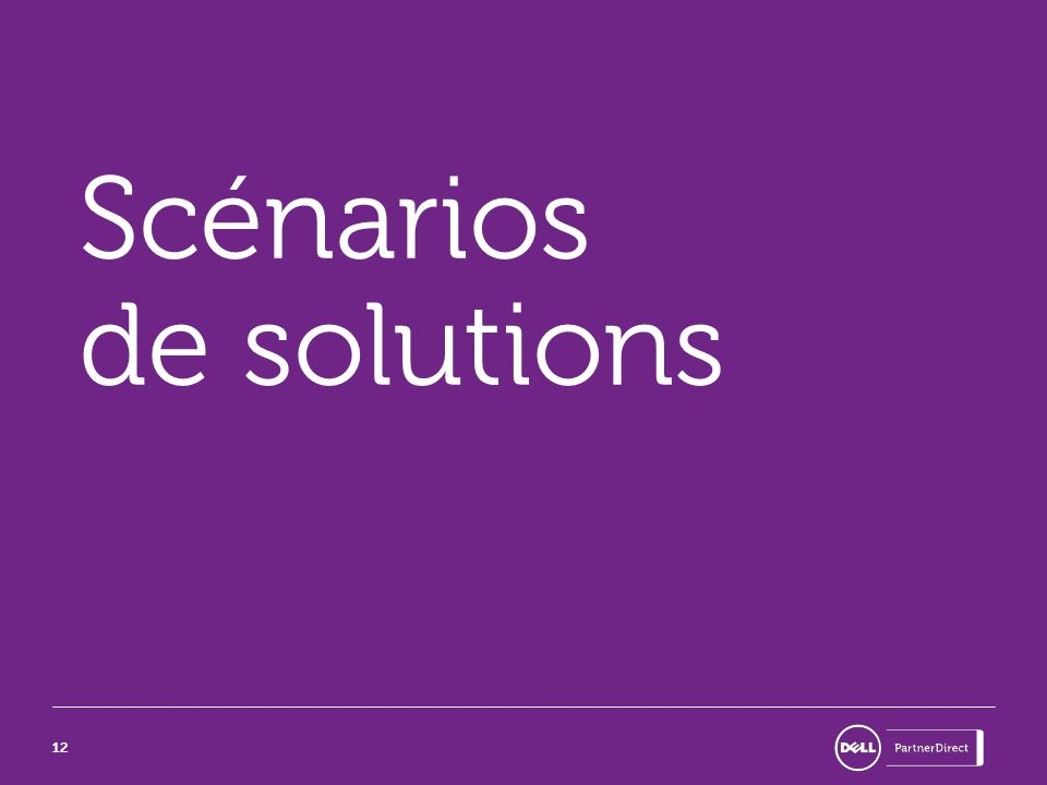 Scénarios de solutions
