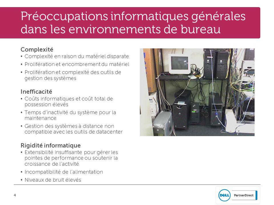 Préoccupations informatiques générales dans les environnements de bureau