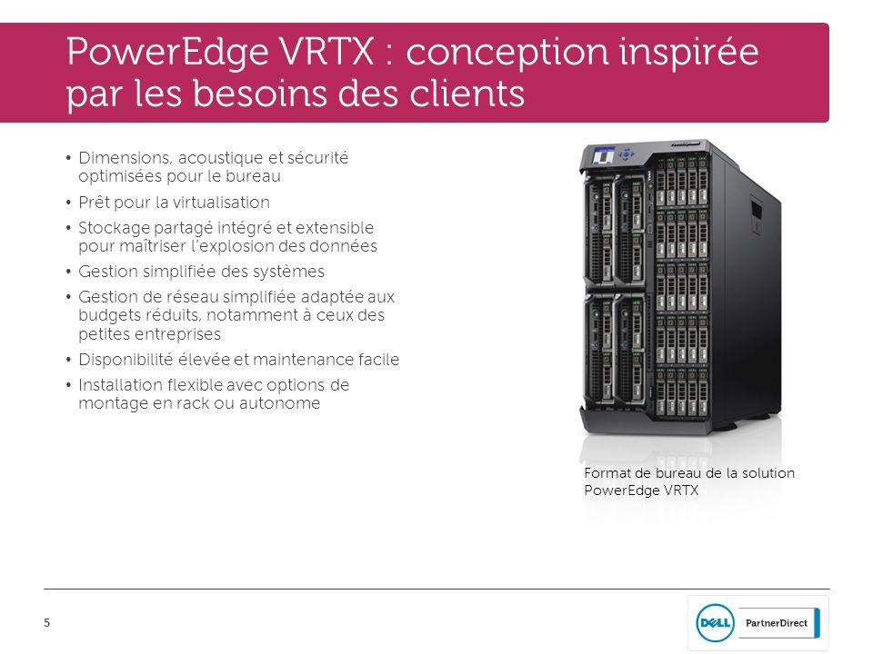 PowerEdge VRTX : conception inspirée par les besoins des clients