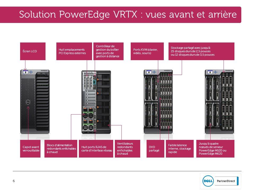 Solution PowerEdge VRTX : vues avant et arrière