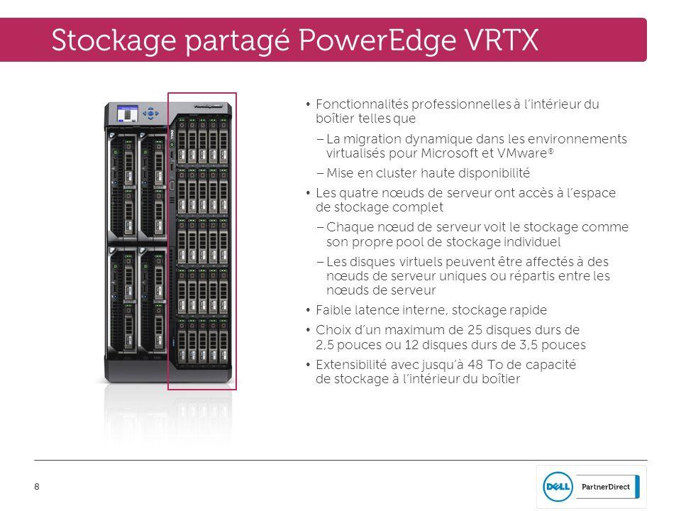Stockage partagé PowerEdge VRTX