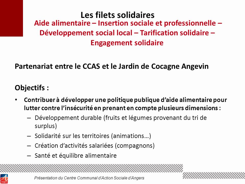 Présentation du Centre Communal d'Action Sociale d'Angers