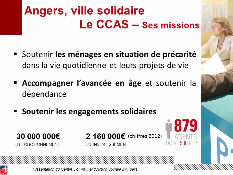 Angers, ville solidaire Le CCAS – Ses missions