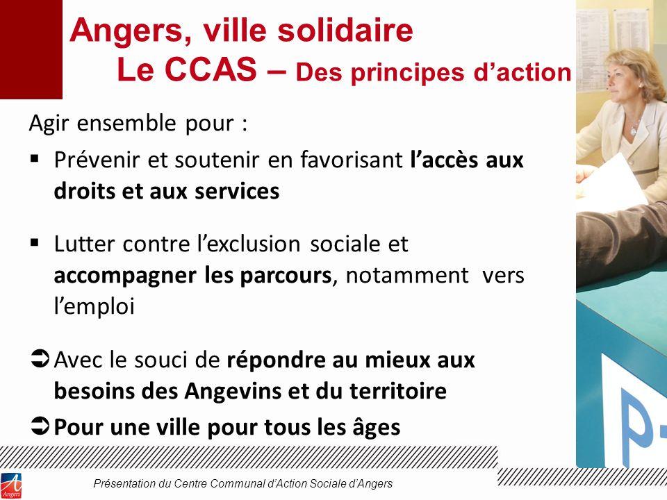Angers, ville solidaire Le CCAS – Des principes d'action