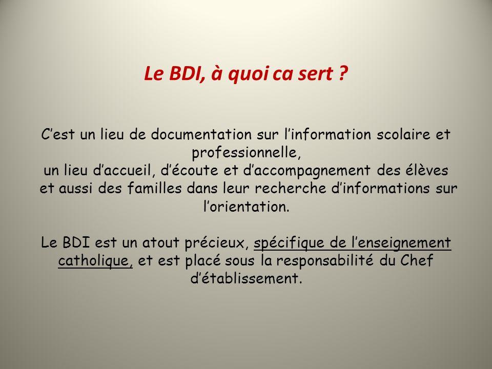 Le BDI, à quoi ca sert .