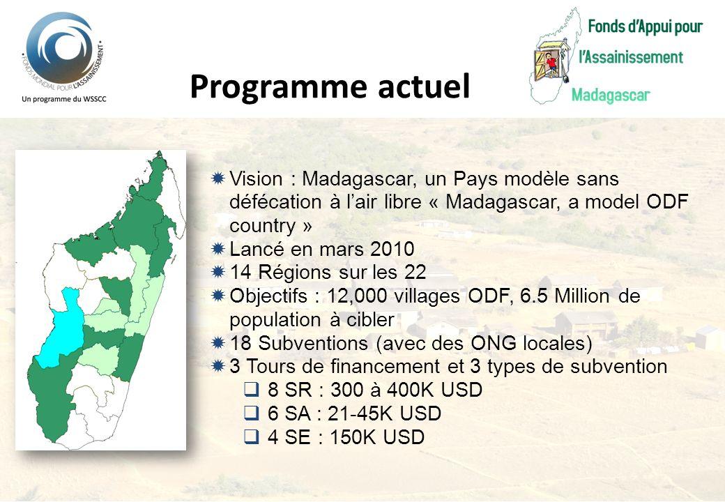 Programme actuel Vision : Madagascar, un Pays modèle sans défécation à l'air libre « Madagascar, a model ODF country »