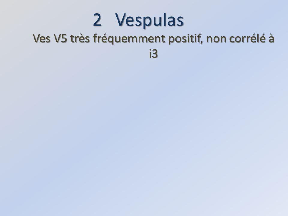 Ves V5 très fréquemment positif, non corrélé à i3