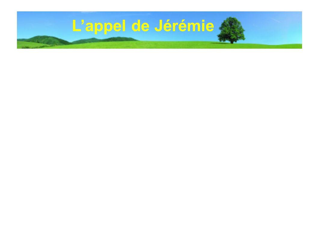 L'appel de Jérémie