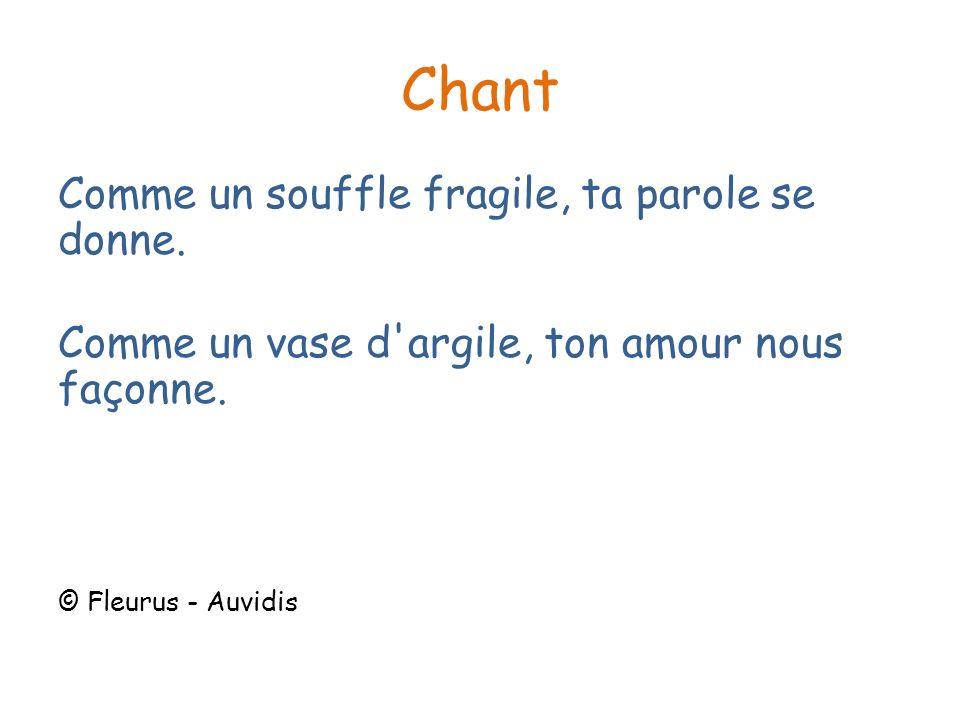 Chant Comme un souffle fragile, ta parole se donne.