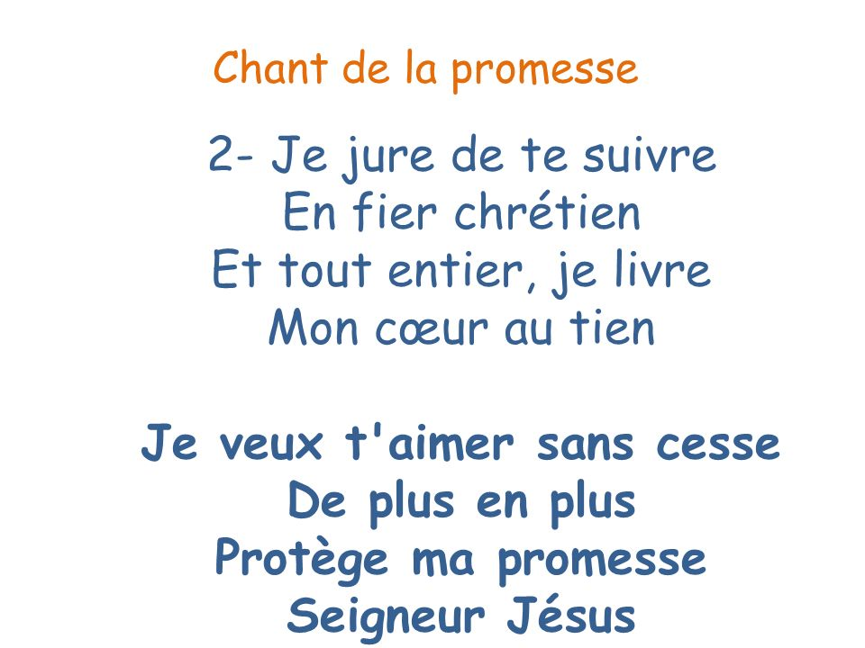 Chant de la promesse