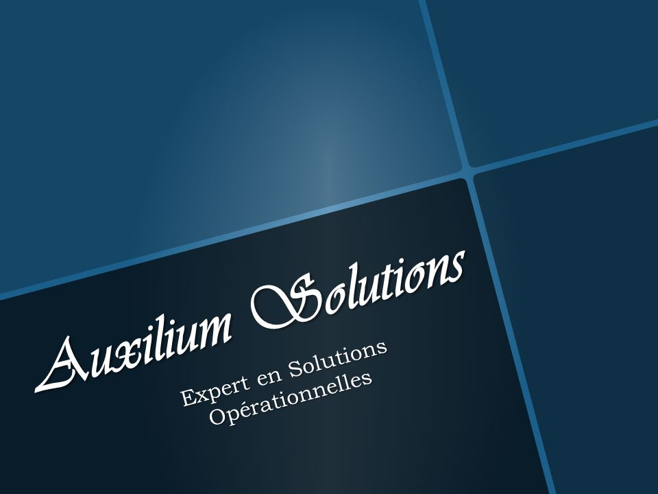 Expert en Solutions Opérationnelles