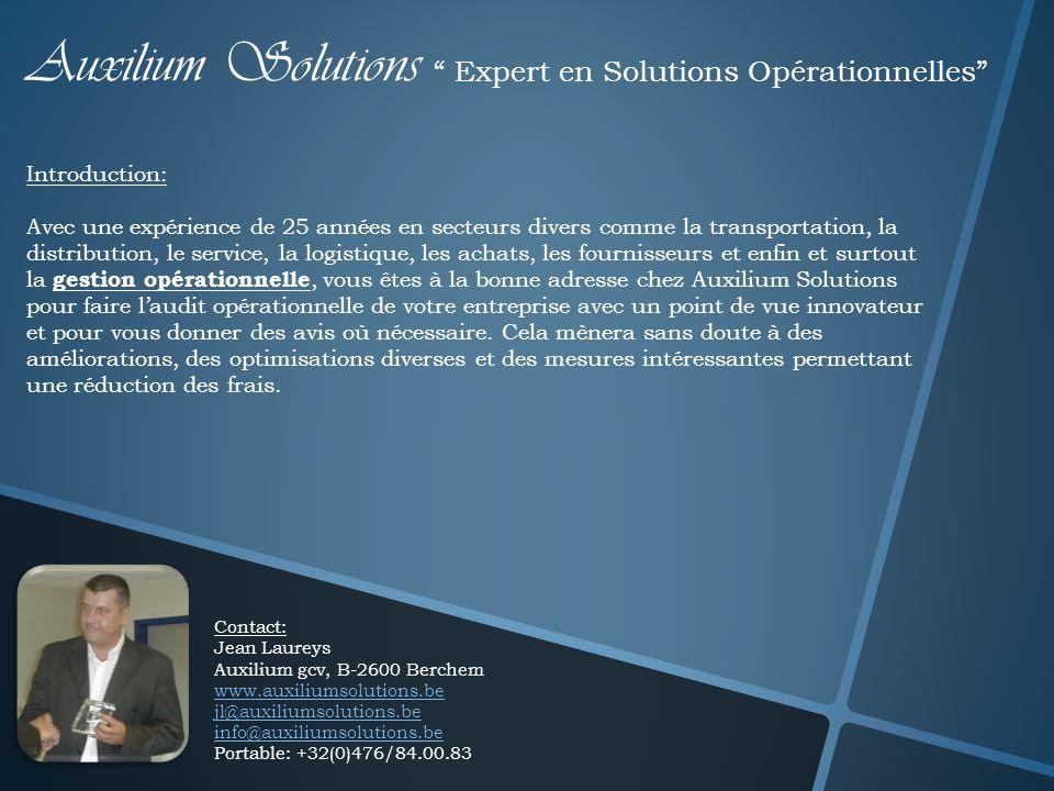 Auxilium Solutions Expert en Solutions Opérationnelles