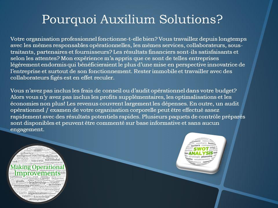 Pourquoi Auxilium Solutions