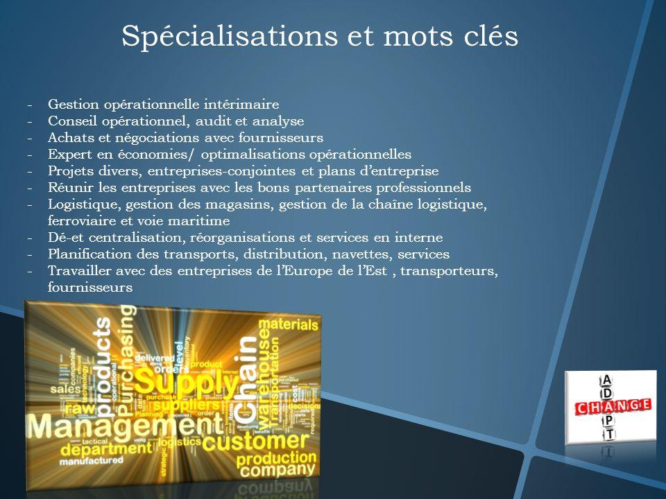 Spécialisations et mots clés