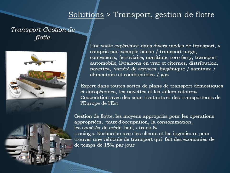 Transport-Gestion de flotte