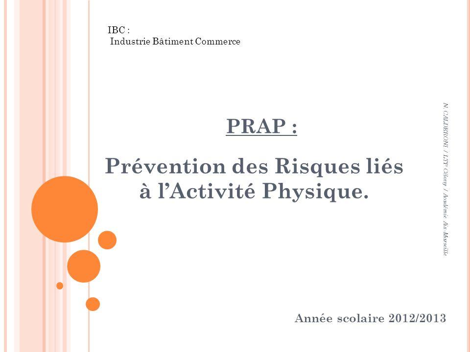 Prévention des Risques liés à l'Activité Physique.