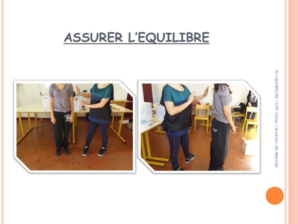 ASSURER L'EQUILIBRE N. CALDERONI / LTP Célony