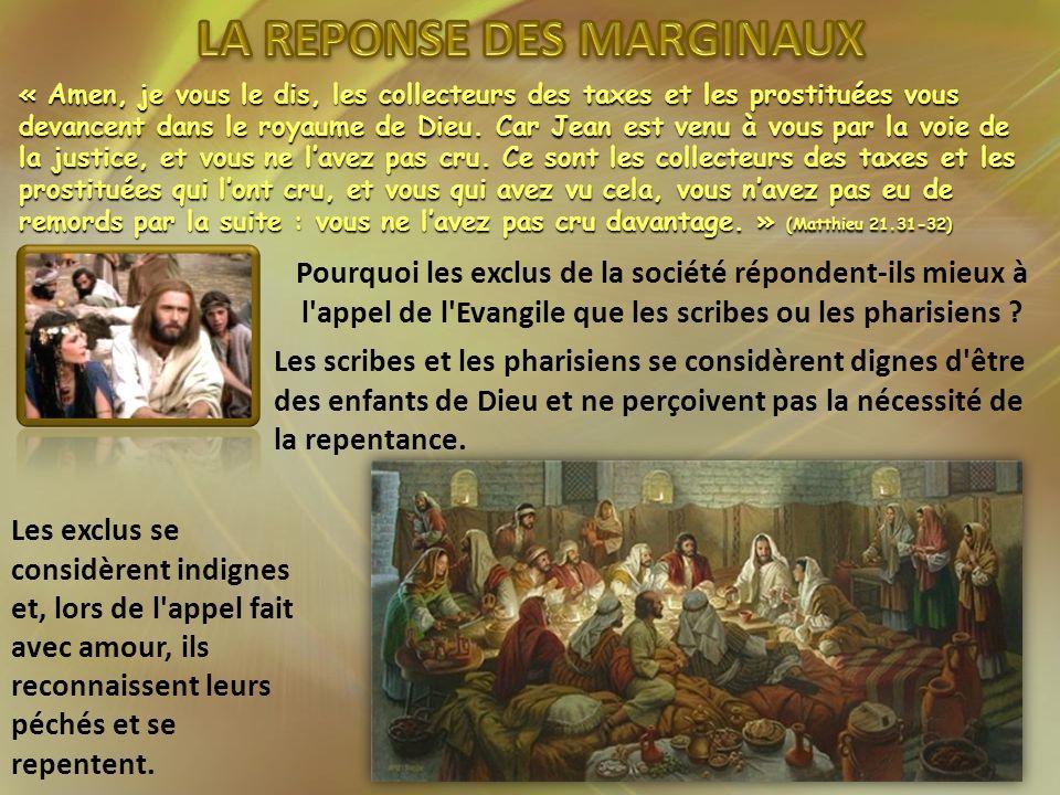 LA REPONSE DES MARGINAUX