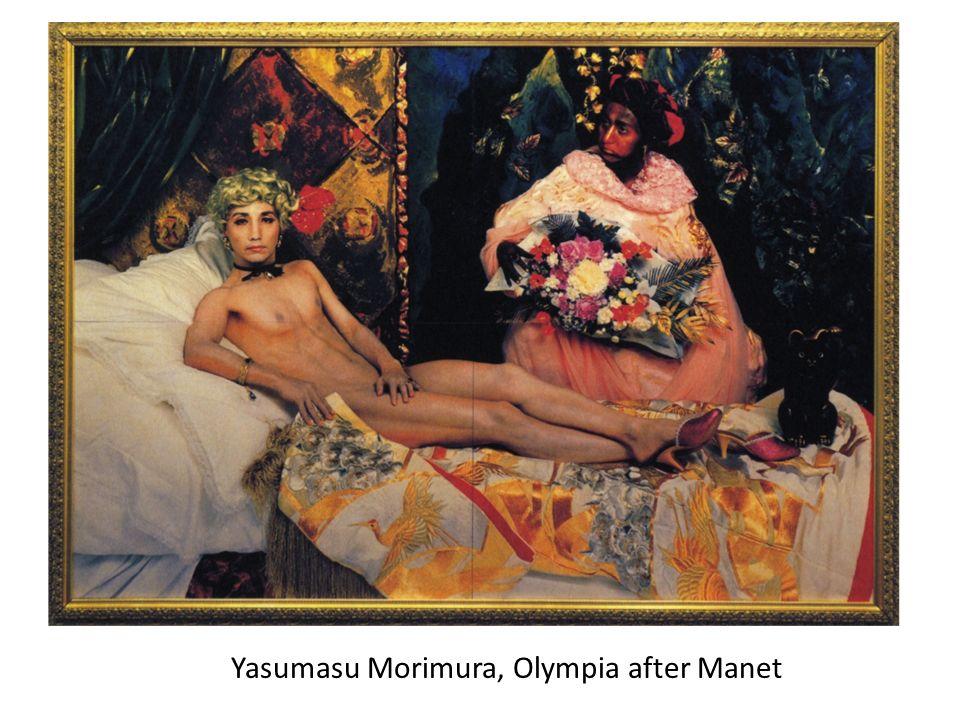 Yasumasu Morimura, Olympia after Manet
